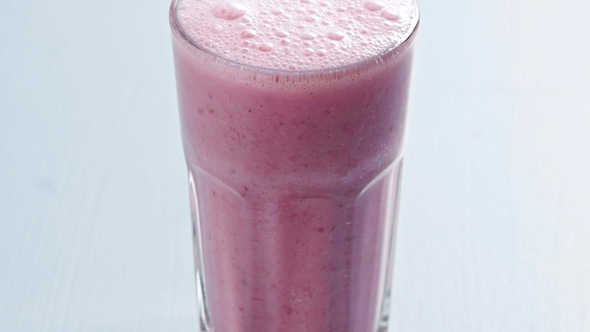 Shake med blåbær og blodgrape