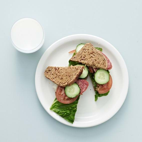 Sommerfrokostsandwich, barn