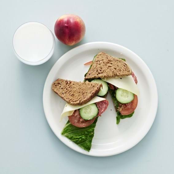Sommerfrokostsandwich, voksen