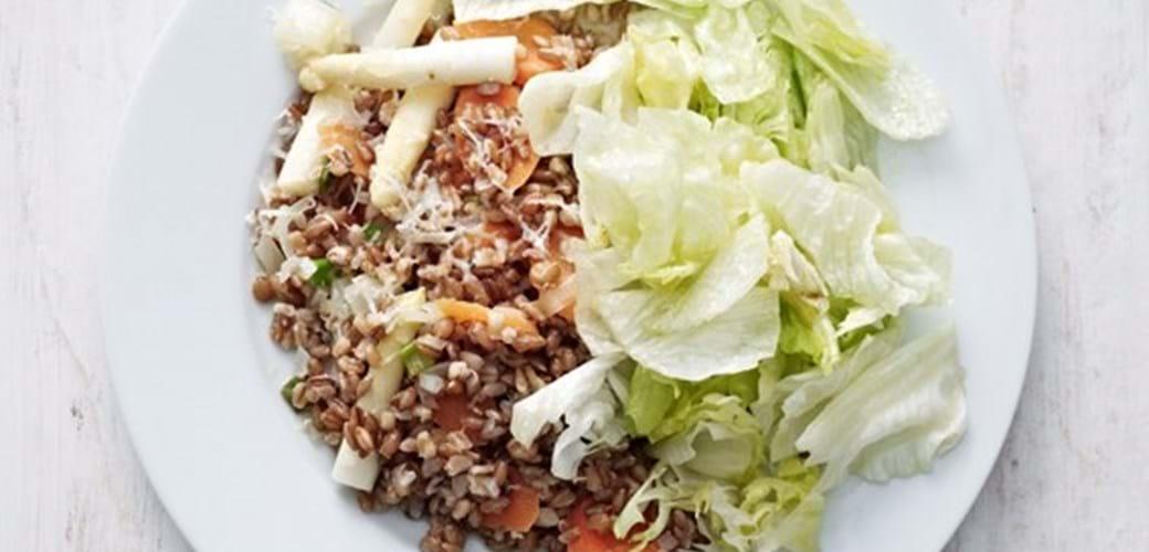 Kornotto med asparges og ingefær