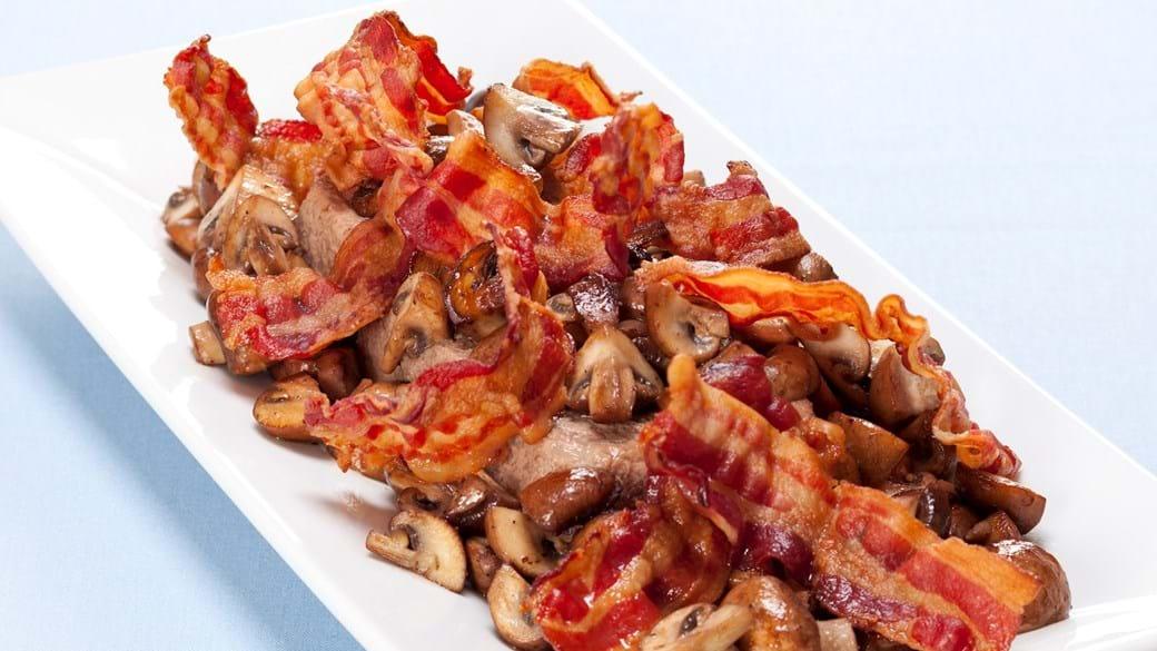 Leverpostej med bacon og champignon