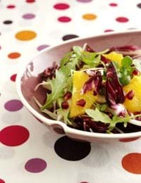 Appelsinsalat med fennikel og granatæble
