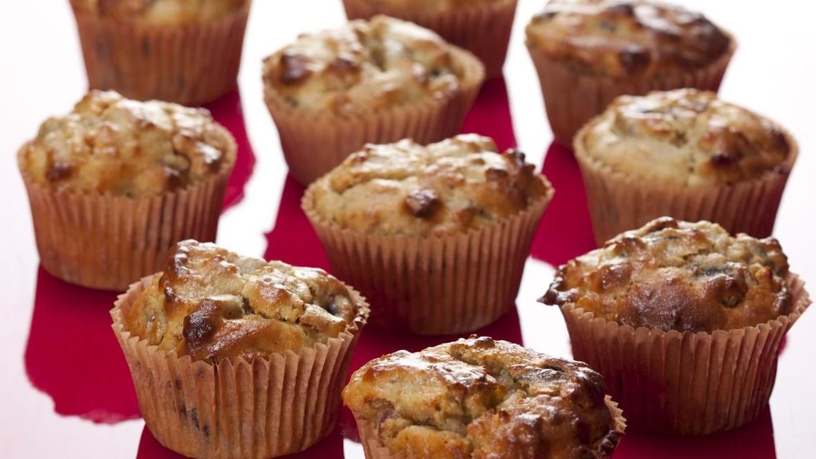 Morgenmuffins med svesker og abrikoser