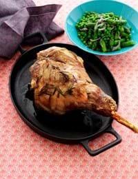 Grillet lammekølle med asparges