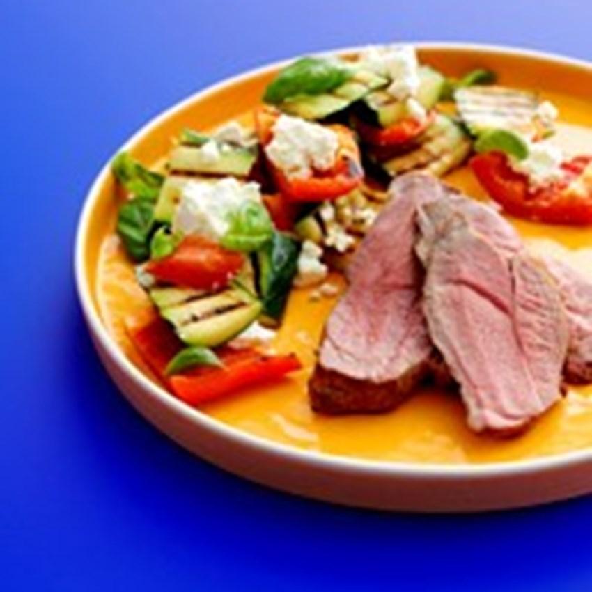Lammeculotte med grillede grøntsager