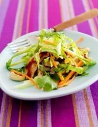 Spicy salat med svinemørbrad