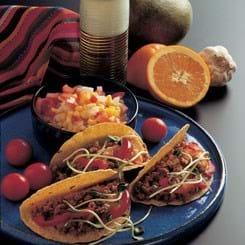 Mexicansk taco-fyld med tomatrelish