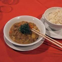 Nakkefilet i japansk karry med løse ris