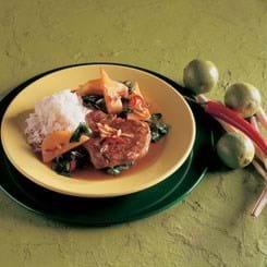Nakkekoteletter med chili og spinat