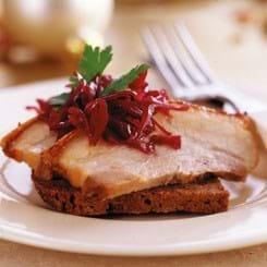 Ribbenssteg med rødkål - til frokost
