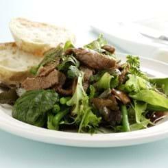 Salat med Skinke Bites