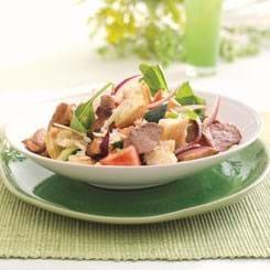 Skinke Bites i toscansk salat