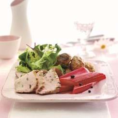 Skinke Flanksteak på grill med krydderrabarber