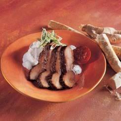Skinkemignon grillet med soja, ingefær og hvidløg
