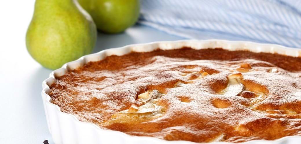 Pæreclafoutis (pæretærte)