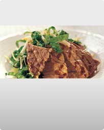 Grillet Wienerschnitzel med bønnespirer