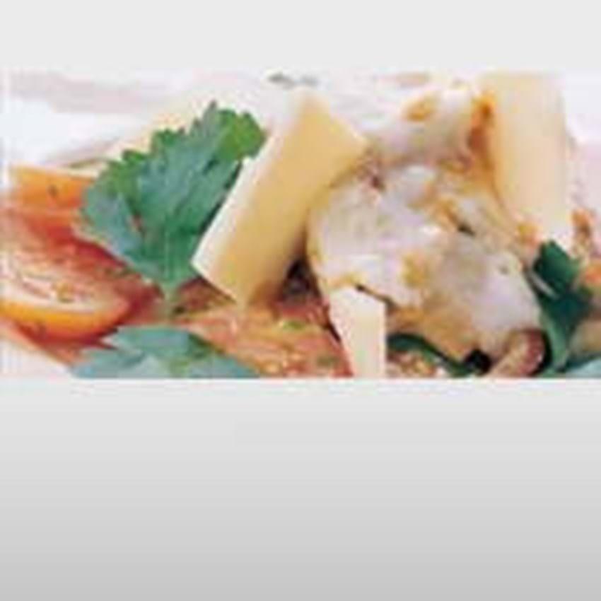 Annas Grønne lasagne med tomatsalat og pesto