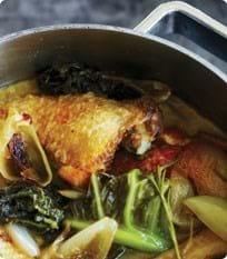 Kylling i kål og marsala med gnocchi i timiansmør