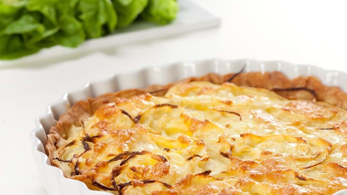 Quiche lorraine – eller løgtærte