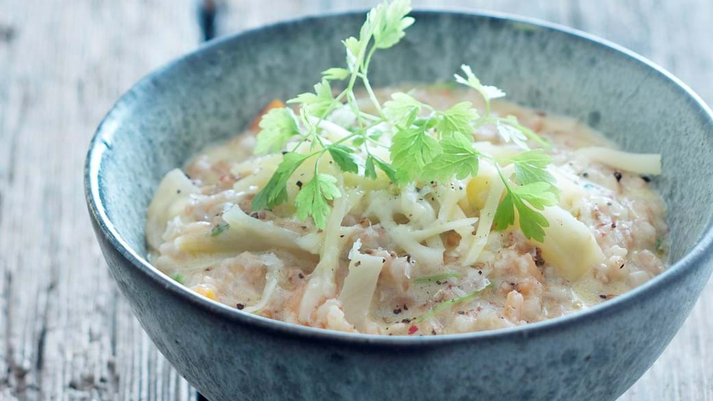 Kornotto med fennikel og gulerod