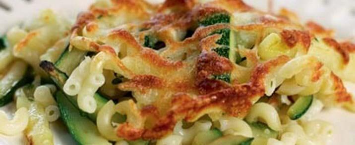 Pastagratin med grønsager