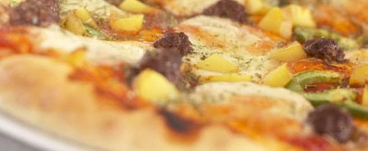 Pizza med oksekød