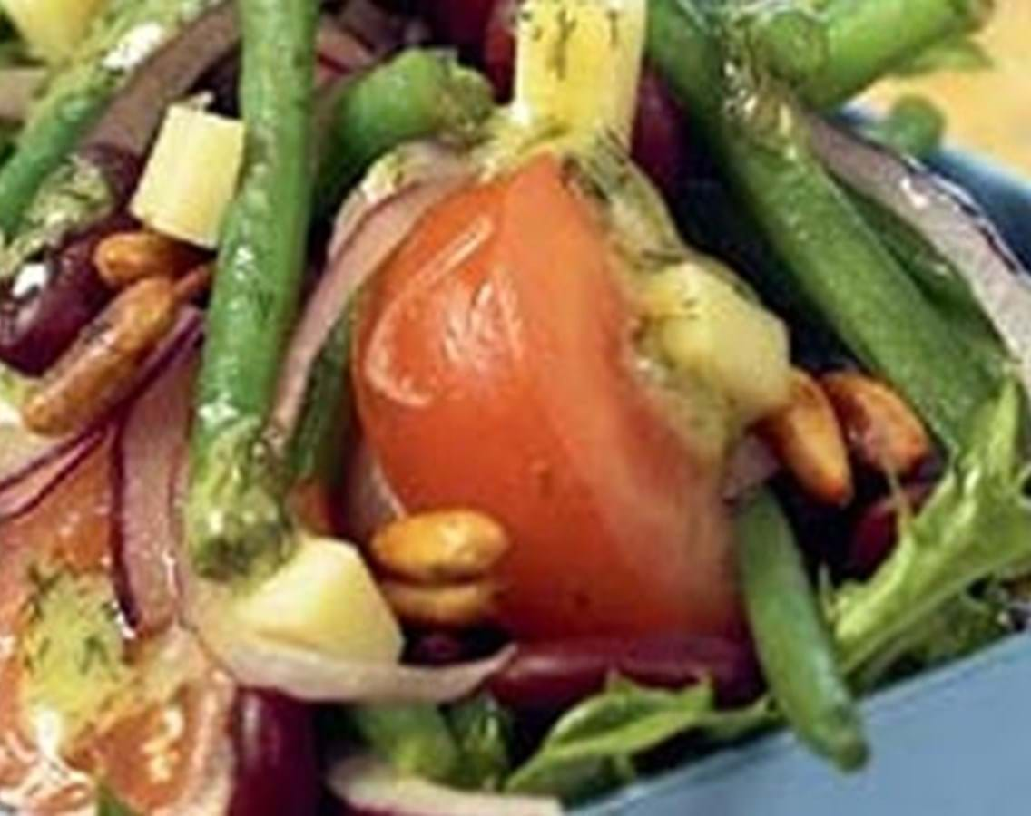 Salat med 2 slags bønner