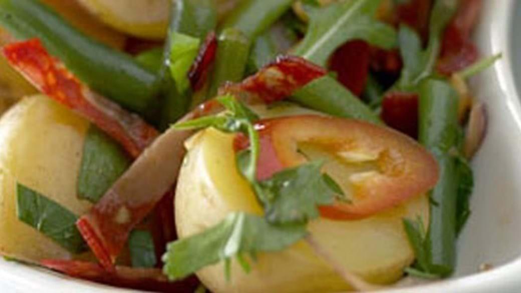 Salat med nye kartofler og chorizopølse