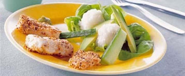 Sesamstegt torsk med sushiris
