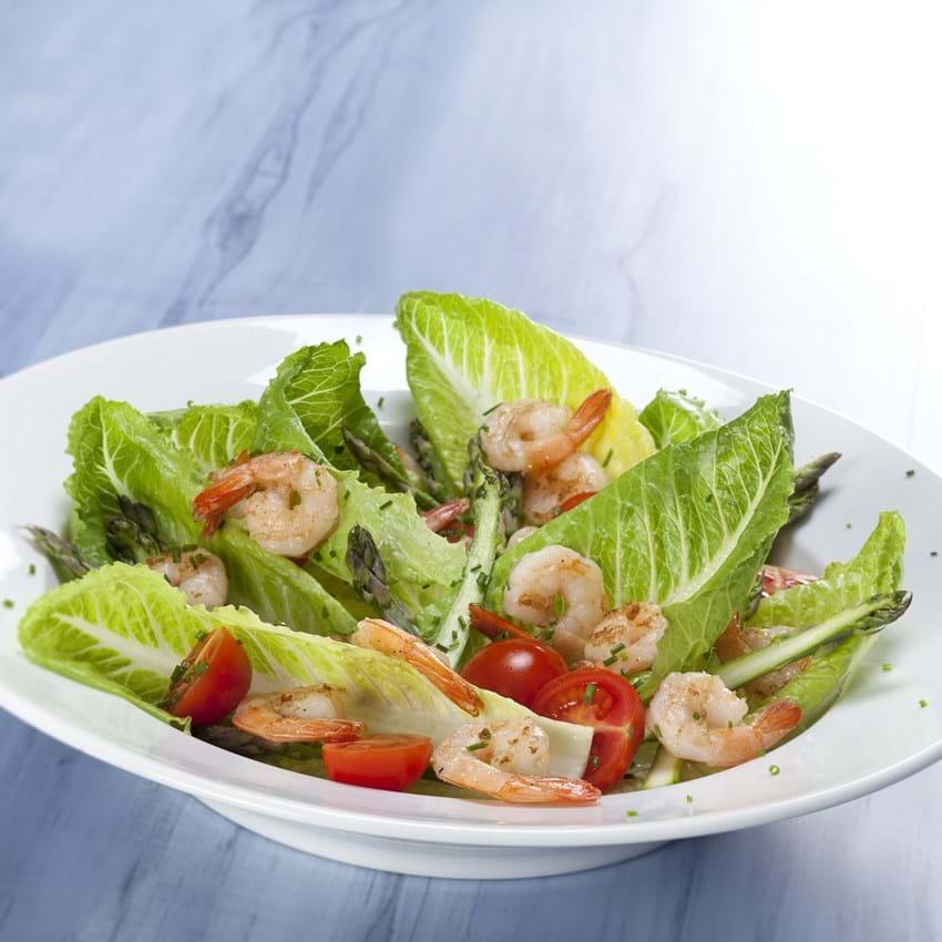 Romaine Salat Opskrift Med Rejer Asparges Og Tomater Se Her