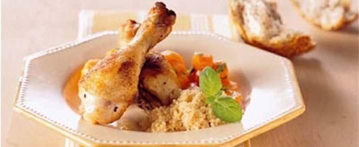 Sprængte kyllingeunderlår m/ingefærgulerødder