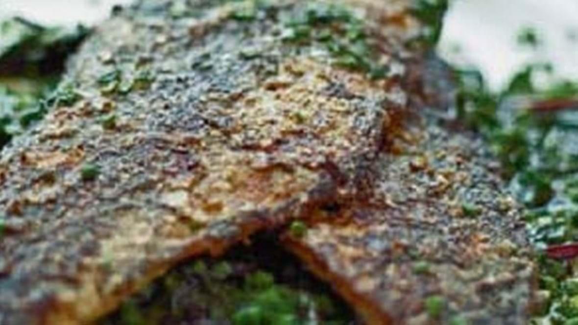 Stegt makrel med krydderurter