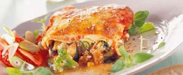 Supernem lasagne med grøntsager og ost
