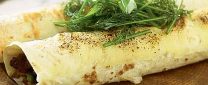 Tortilla med wokkede grønsager