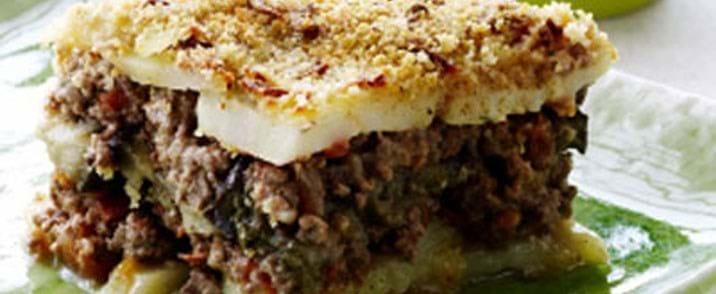Traditionel græsk moussaka