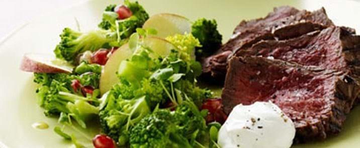 Tykstegsbøffer med smuk og smagfuld salat