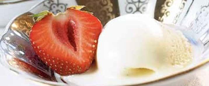 Vanille yoghurt-is