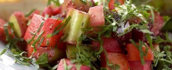 Vintersalat med kød