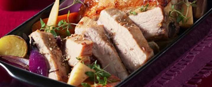 Økologisk ølmarineret nakke eller bryst fra gris