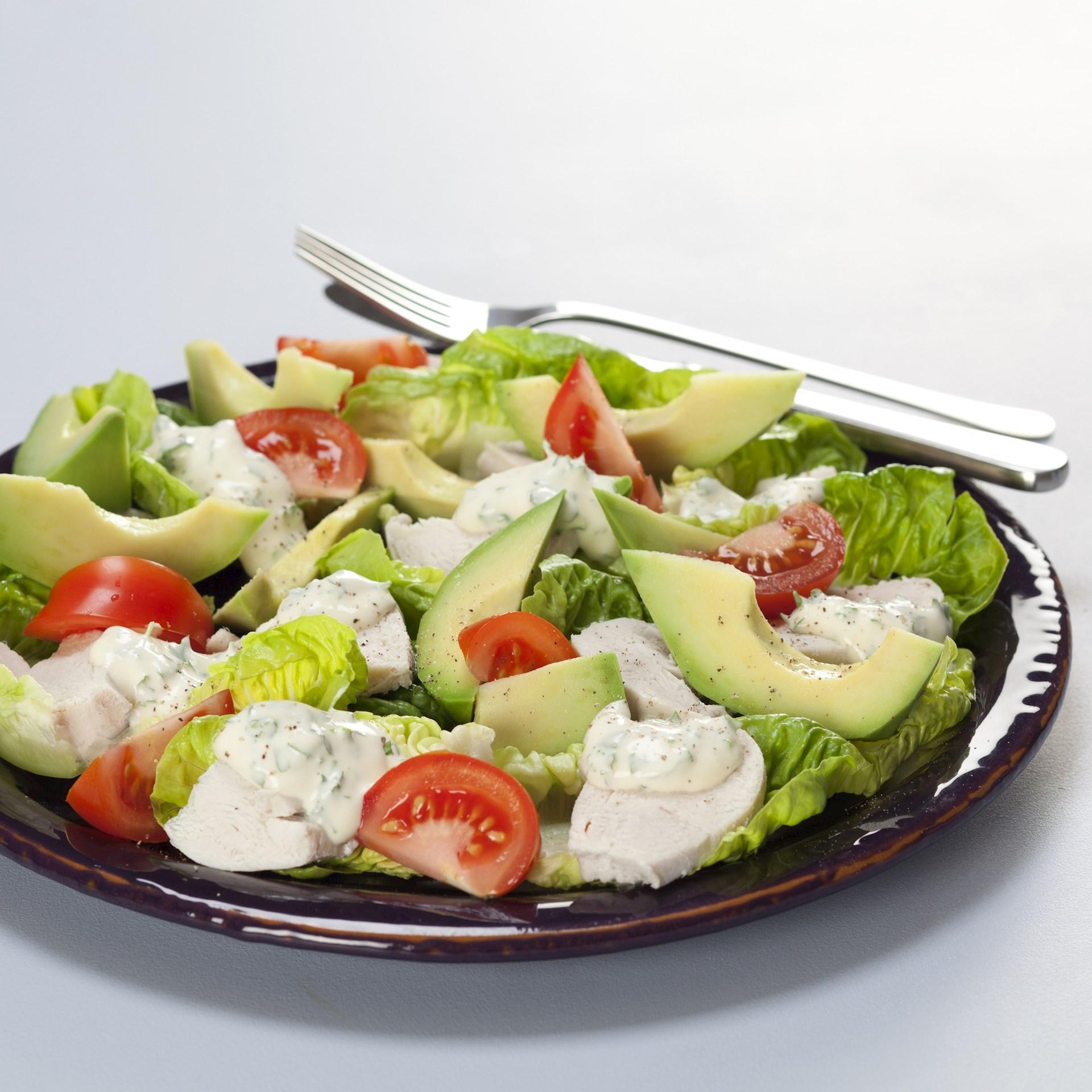 Salat opskrift med kylling