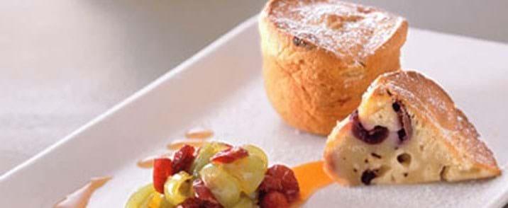 Druemuffins med chokolade og syltede druer