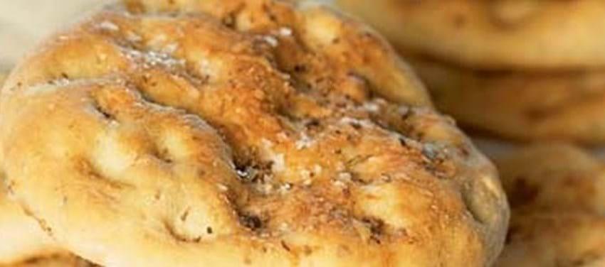 Focacciabrød med oregano og parmesan