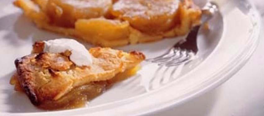 """Fransk """"omvendt"""" æbletærte"""