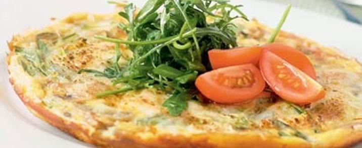 Frittata med mozzarellaost