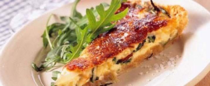 Gorgonzola- og parmesantærte