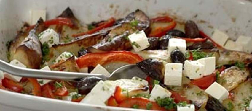 Græsk kartoffelfad