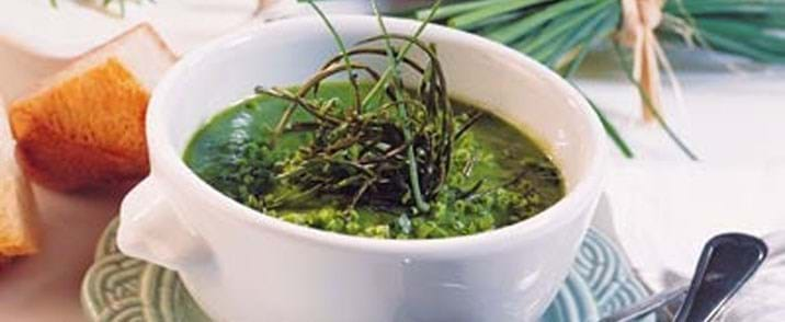 Grøn forårssuppe med broccoli
