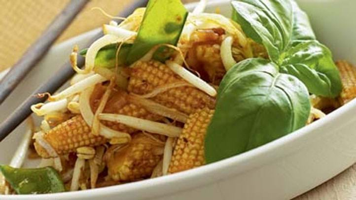 Grønsager i gul karry