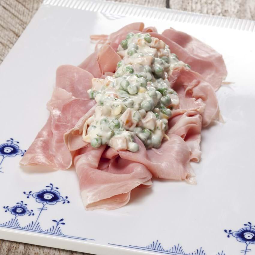 Skinke med italiensk salat
