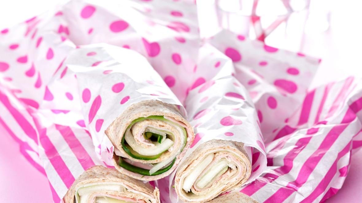 Wraps med skinke og melon
